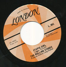 THE ROLLING STONES 45 TOURS CANADA STUPID GIRL