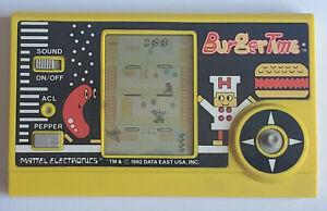Vintage Mattel BURGERTIME LCD Electronic Handheld Arcade video game 1982 - WORKS
