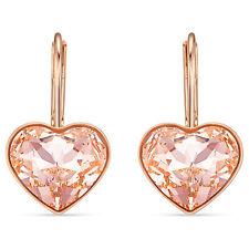 Swarovski 5515192 Bella Heart Earrings, Pink, Rose-Gold Tone Plated 2x1CM RRP$89