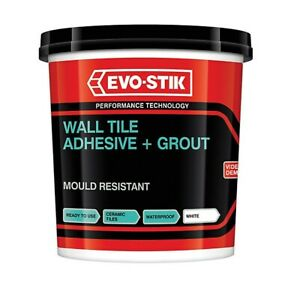 Evo Stik Tile A Wall Waterproof Adhesive & Grout for Ceramic 1L