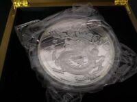 Chinese Lunar Calendar Dragon 2012 1 kg kilo Silver Plated Coin Round Medal