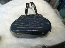 LuLu Guiness blue leather Pollyanna bag.