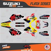 Suzuki DRZ400SM Graphics Kit FLASH Series DRZ400 SM S E drz 400 yellow black