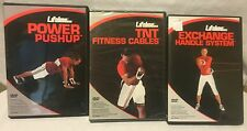 3 Lifeline workout exercise fitness DVD lot, exchange handle system power pushup