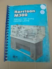HARRISON M300 LATHE MACHINE MANUAL