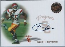 2008 PRESS PASS KEITH RIVERS ROOKIE/RC AUTO #PPSKR USC TROJANS