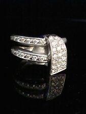Designer Diamond Ring Vintage 18Ct White Gold