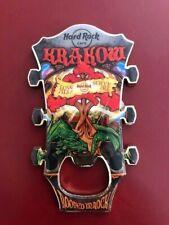 Hard Rock Cafe KRAKOW POLAND Headstock Bottle Opener Magnet