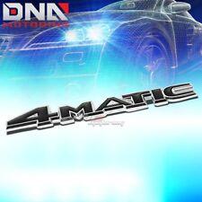 FOR MERCEDES 4-MATIC STICK ON 3D CHROME BLACK AUTO METAL EMBLEM TRIM BADGE LOGO
