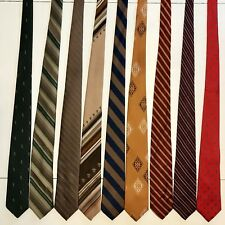 "9 Men's Ties ALL 3"" Skinny Slim Retro Don Loper Yves Saint Laurent Poly Tie Lot"
