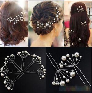 Wedding Bridal Bridesmaid Pearls Hair Pins Grips Hair Jewelry Lot Accessories