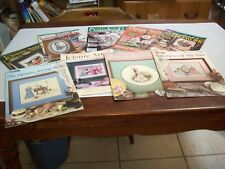 Magazines (6)Counted Cross Stitch & 3 Counted Cross Stitch Brochures 587