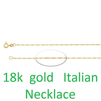 Pure 18K Solid Yellow Gold Necklace Men & Women Real Gold Rope Chain