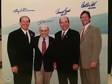 GARY CARTER YOGI BERRA JOHNNY BENCH FISK Signed Autograph Auto 16x20 Photo PSA