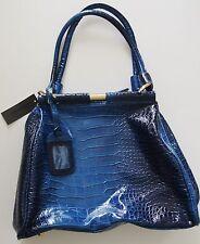 Cobalt Blue HIGH FASHION Handbag, 12 x 15 x 5 in, 10 in drop