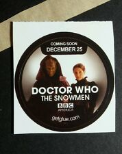 "DOCTOR WHO SNOWMEN MADAM VASTRA JENNY TV SMALL 1.5"" GET GLUE GETGLUE STICKER"