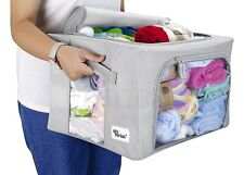Periea METAL FRAME Fabric Clothes Storage Box / Bedding Storage Boxes - 3 Sizes