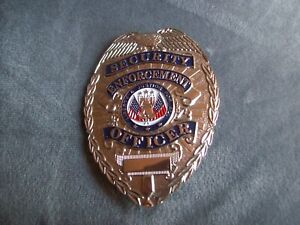 Vintage Security Enforcement Officer Silver Metal Badge