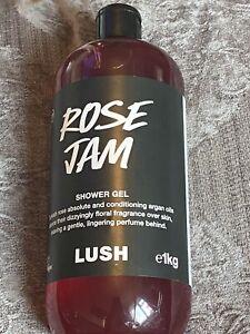 Lush Rose Jam Shower Gel 1kg Huge Bottle In Date And New