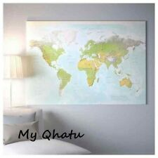 """IKEA BJORKSTA Picture Planet Earth MAP 78 3/4"""" x 55"""" Canvas Only No Frame NEW"""
