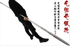 WUSHU lance Strong Chinese KungFu Spear Sword Sharp 1095High Carbon Steel Blade