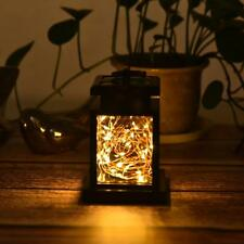 Solar Lantern Hanging Light LED Garden Lamp Yard Patio Pillar Lamp for Outdoor
