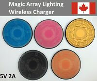 10W Qi Wireless Charger Magic Array Lighting Charging Pad For iPhone Samsung