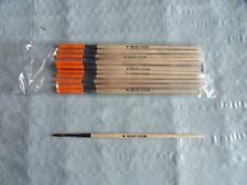 """12 NEW Weiler 1/8"""" Watercolor Paint Brushes Red Sable 5/8"""" trim 41003W Free Ship"""