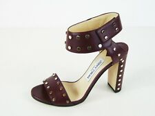 Jimmy Choo Veto Studded Sandal - Vino - 37.5 EU; 7 US