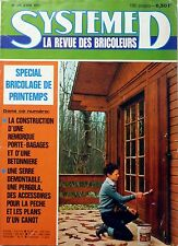 SYSTEME D 1977: CANOT A FOND PLAT_BETONNIERE_CABANE DE JARDIN_ATTELAGE REMORQUE