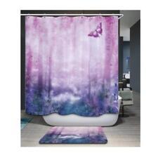 Cortina de la ducha del bosque Cuarto de baño Sheer Cuadrado Panel colgante