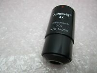 INFINITY ACHROVID 4x NELSONIAN VIDEO MICROSCOPE OBJECTIVE 0.09 f=200 Infinity/0
