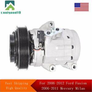 A/C Compressor For Ford Fusion 06-12 Mercury Milan 06-11 Zephyr 06 CO 11212C