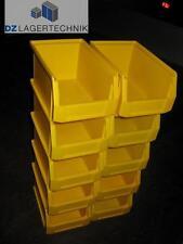 10x LF 221 Kiste gelb SSI Schäfer Sichtlagerkasten Behälter Kasten 230x150x122