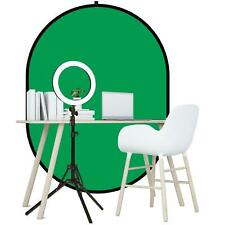 More details for greenscreen background 1.5m x 2m home working zoom youtube tiktok ring light kit
