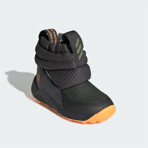 Rapida Snow boots Adidas G27180 infant toddler grey orange