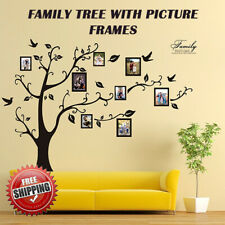 Family Tree Wall Decal Picture Frame Vinyl Bedroom Art Decor Removable Sticker