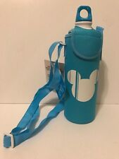 NWT Disney Store Mickey Mouse Reusable Aluminum Water Bottle w/ Neoprene Sleeve