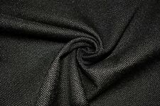 Vintage Jet Black Tweed Automotive Seat Cover Fabric Upholstery Auto 55