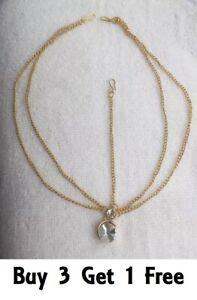 Golden Diamante Head Chain Matha Patti Tika Tikka Indian Bollywood