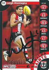 ✺Signed✺ 2013 ST KILDA SAINTS AFL Card LEIGH MONTAGNA
