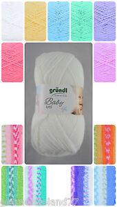 gründl Baby uni - Baby color Wolle / verschieden Farben / 50g~150m