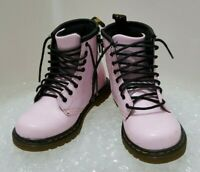 Kids/girls Dr Martens Delaney Infant Size UK Kids 9 Pink Patent Leather