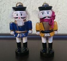 Erzgebirge Germany Wooden Figurines Set of 3 - 2 Soldiers & 1 Nutcracker