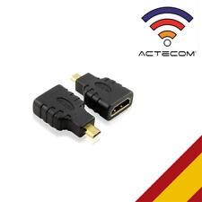 ACTECOM® Adaptador Conversor - MiCRO HDMI Macho a HDMI Hembra