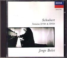 Jorge Bolet: SCHUBERT piano sonata d.784 d.959 Decca CD 1990 pianoforte SONATE