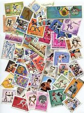 LOT DE 50 TIMBRES DIFFERENTS THEMES BOXE