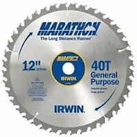 New Irwin Tools 14080 12-Inch 40-Teeth 1-Inch Arbor Miter and Table Saw Blade