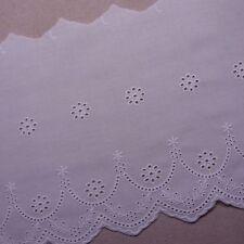 VINTAGE STYLE Embroidery Cotton Crochet Lace Trim 20cm Wide 1Yd