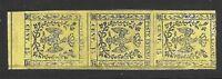 Modena 1852 15 cent striscia di tre nuova mnh